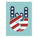 Rock Hand USA Postcard