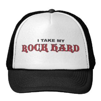 Rock Hard Black/Red Trucker Hat