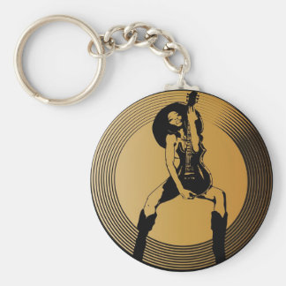 Rock Hard & Release! Basic Round Button Keychain