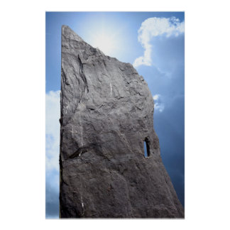 rock head stone poster