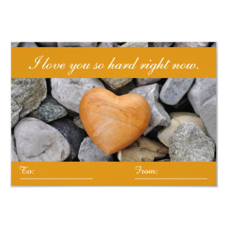 Rock Heart Valentine's Day To/From Card