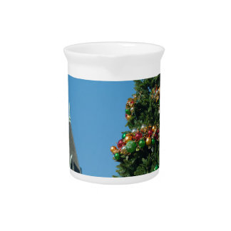 Rock Hill South Caroline Christmas tree Beverage Pitcher