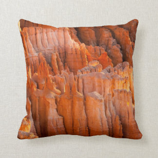 Rock Hoodoos in Morning Light Throw Pillow