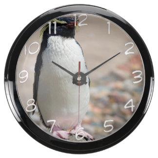 """""""Rock hopper penguin"""" design wall clock Aquarium Clock"""