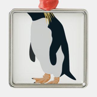 Rock Hopper Penguin Metal Ornament