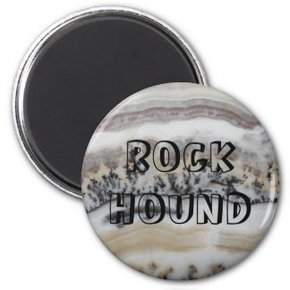 Rock Hound Dendritic Agate Image 2 Inch Round Magnet