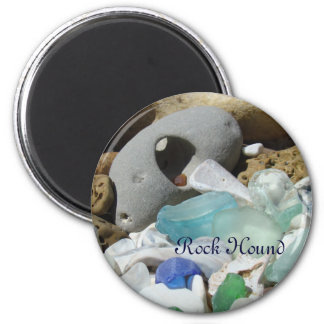 Rock Hound magnets Seaglass Sea Glass Fossils Rock