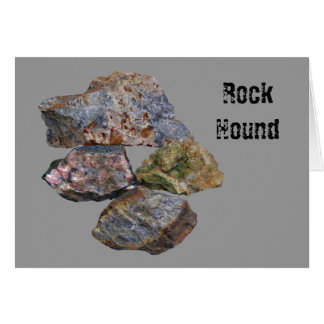 Rock Hound Mineral Collectors Card