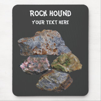 Rock Hound Mineral Collectors Funny Mousepad