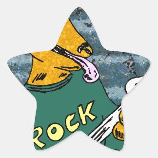 Rock hound star sticker