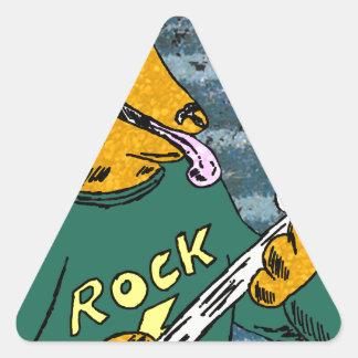 Rock hound triangle sticker