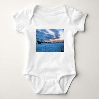 Rock Ice Sky Sun by Ozborne Whilliamsson Baby Bodysuit
