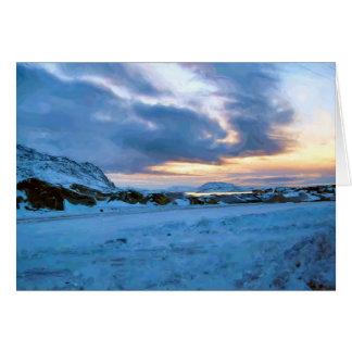Rock Ice Sky Sun by Ozborne Whilliamsson Card