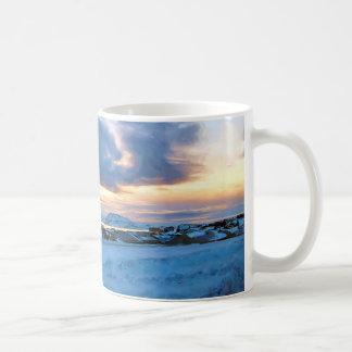 Rock Ice Sky Sun by Ozborne Whilliamsson Coffee Mug
