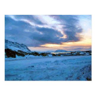 Rock Ice Sky Sun by Ozborne Whilliamsson Postcard