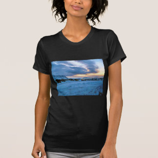 Rock Ice Sky Sun by Ozborne Whilliamsson T-Shirt