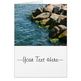Rock In A Blue Sea, Landscape Photography Card