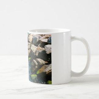 Rock In A Blue Sea, Landscape Photography Coffee Mug