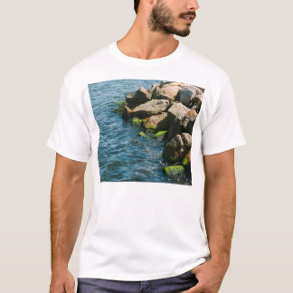 Rock In A Blue Sea, Landscape Photography T-Shirt