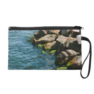 Rock In A Blue Sea, Landscape Photography Wristlet