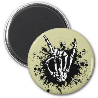 Rock in Bone 2 Inch Round Magnet