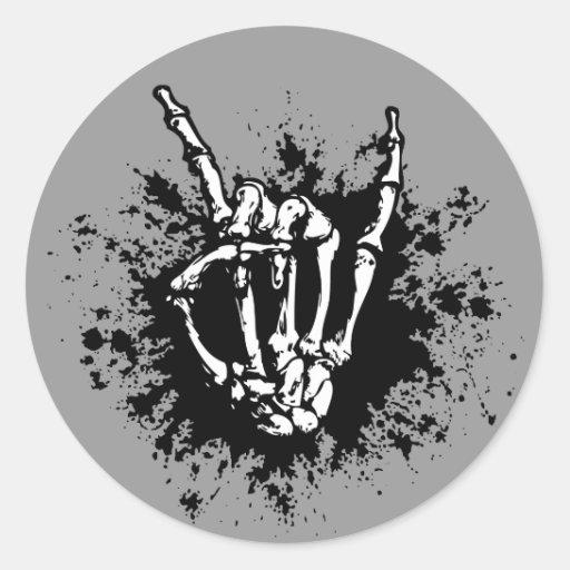 Rock in Bone Round Sticker