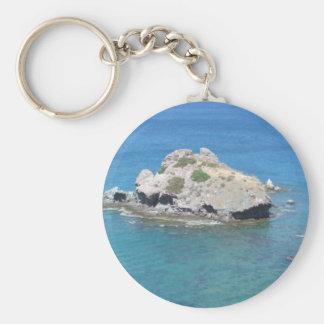 Rock in the Mediterranean Keychain
