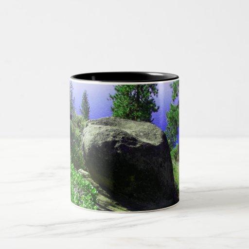 Rock In The Woods Two-Tone Coffee Mug