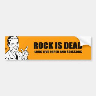 ROCK IS DEAD. LONG LIVE PAPER AND SCISSORS. BUMPER STICKER