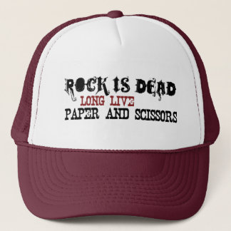 Rock Is Dead Trucker Hat