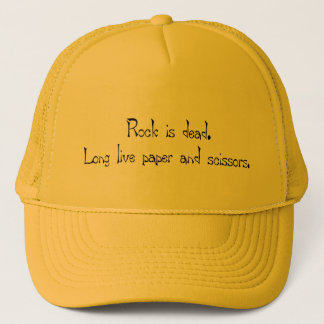 Rock is deadT-shirts and gifts. Trucker Hat