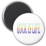 Rock is Life 2 Inch Round Magnet