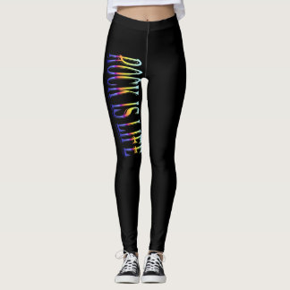 Rock is Life Black Leggings