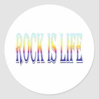 Rock is Life Classic Round Sticker