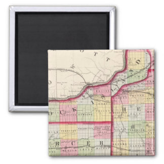 Rock Island, Henry, Mercer counties 2 Inch Square Magnet