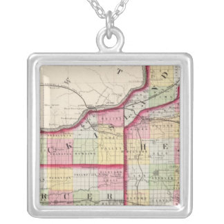 Rock Island, Henry, Mercer counties Silver Plated Necklace