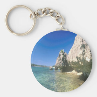 Rock Island keychain, with water so clear, you can Keychain