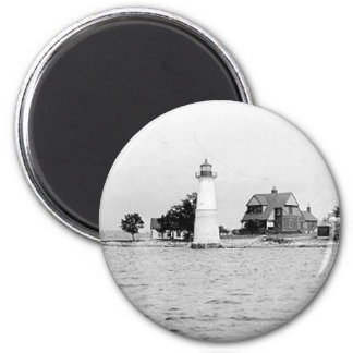 Rock Island Lighthouse 2 Inch Round Magnet