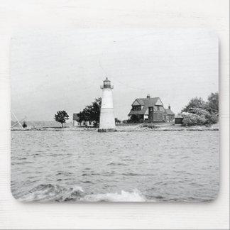 Rock Island Lighthouse Mouse Pad