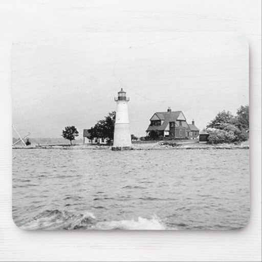 Rock Island Lighthouse Mouse Pads