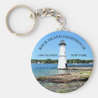 Rock Island Lighthouse, New York Keychain