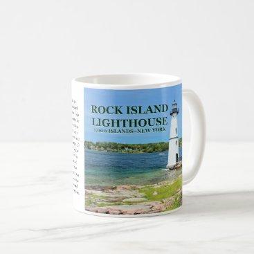 USA Themed Rock Island Lighthouse, New York Mug