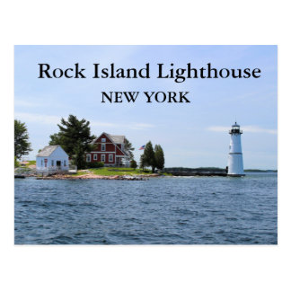 Rock Island Lighthouse, New York Postcard #3