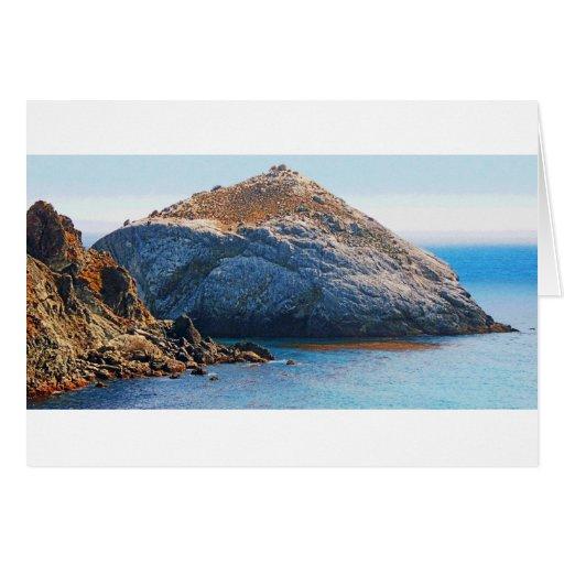 Rock Island photo painting card