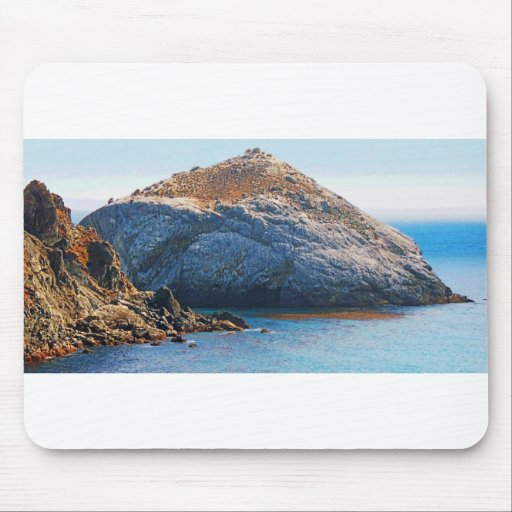 Rock Island photo painting mousepad