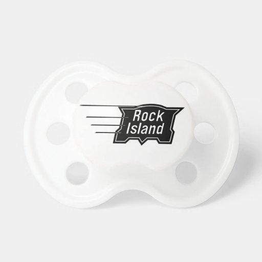 Rock Island Railroad Speed Logo Baby Pacifiers