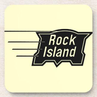 Rock Island Railroad Speed Logo Coaster