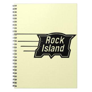 Rock Island Railroad Speed Logo Notebook
