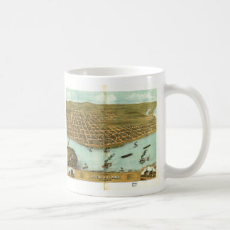 Rock Island Rock Island County Illinois (1869) Coffee Mug