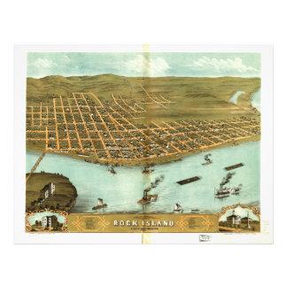 Rock Island Rock Island County Illinois (1869) Letterhead